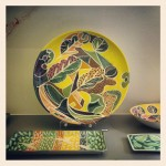 Ceramics on sale at the Benaki Museum store.
