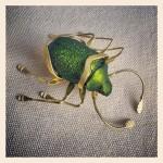 Scarab beetle brooch by Lita Karakostanoglou.