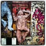 Surprising street art in Monastiraki.