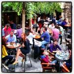 TAF - The Art Foundation - is  a bar-cum-gallery space in a hidden courtyard in Monastiraki.