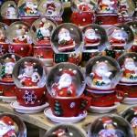 Santa's snow globes.