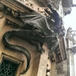 Dragons in Marienplatz.