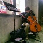 Classical buskers.