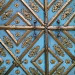 Even church doors seem festive.