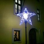 Bavarian street Christmas decorations.