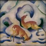Franz Marc's Deer in the Snow.