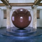 Walter de Maria's Large Red Sphere is one of 16 sculptures on a sculpture trail around the Pinakothek galleries.