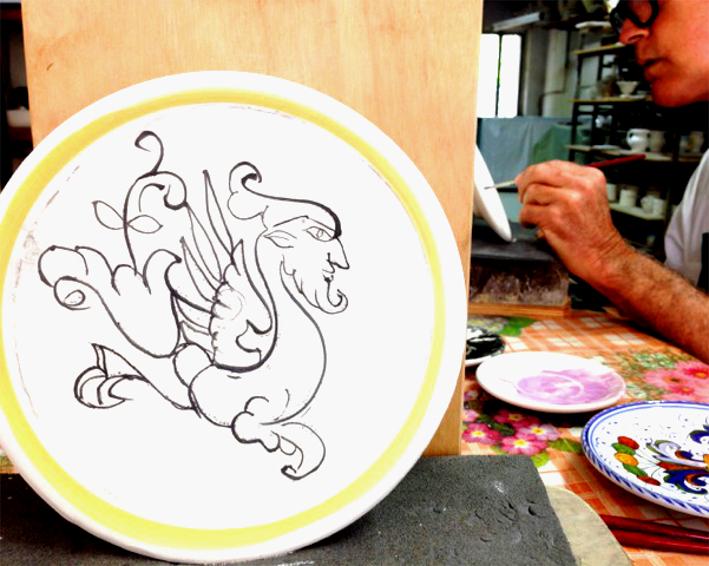 U.B. painted plate