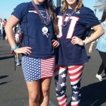 Sassy done right - these two Boston beauties were the epitome of feminine fan fashion fun. Root like a girl & god bless America!