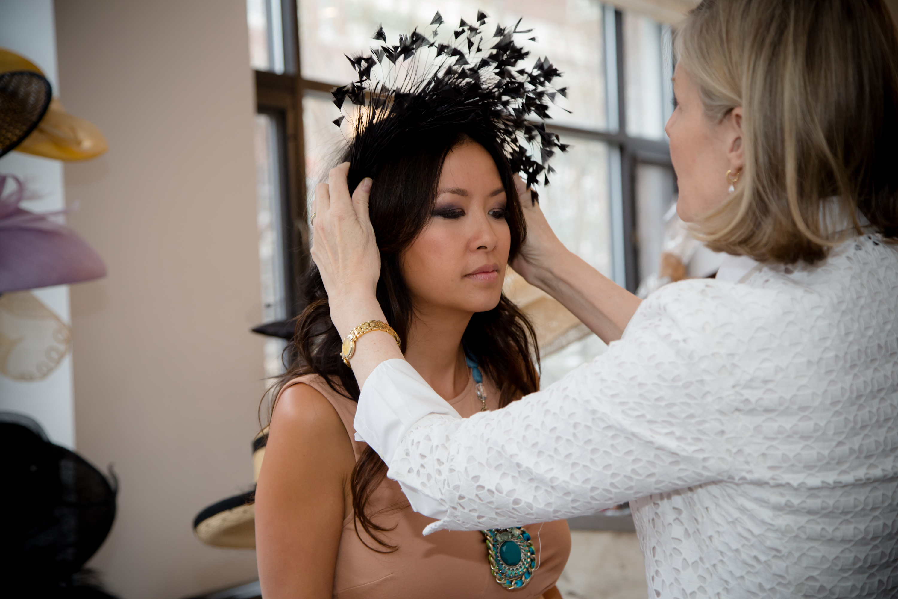 Fascinators have their place and should frame the face of the woman. But  hats are beautiful and more dramatic – a woman needs to be certain of her  ability ... 69452ba2bb4