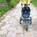 Jogging stroller, essential equipment on the Appian Way.