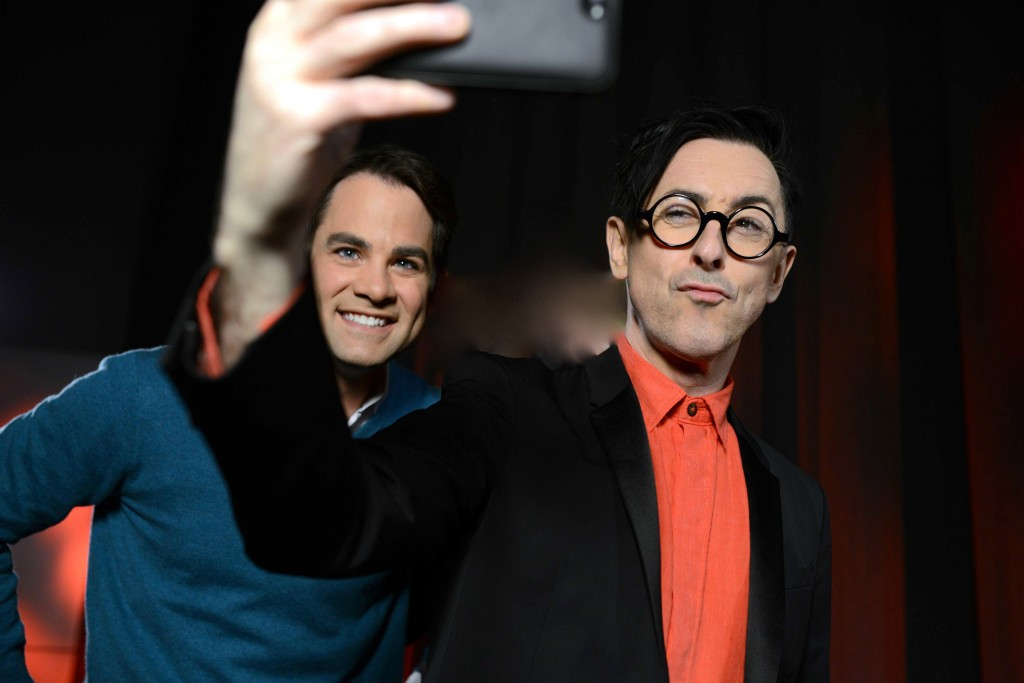 Jared and Scottish actor Alan Cumming take a selfie after Open Studio.