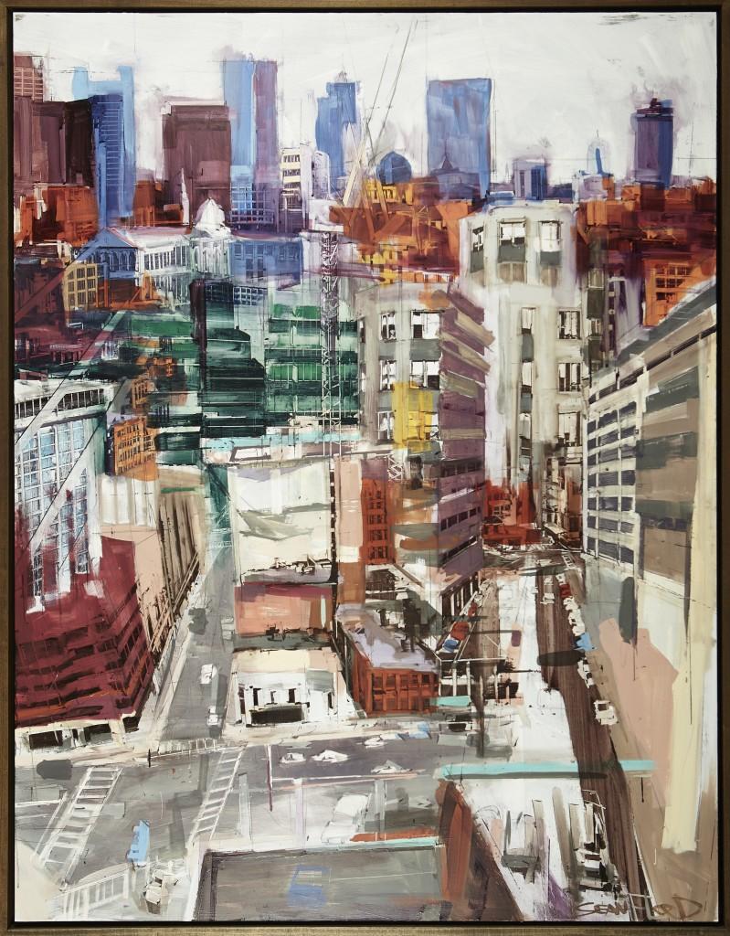Sean Flood, American (b. 1982) Hospital Windows, 2014 Oil on panel, 62 x 48 inches