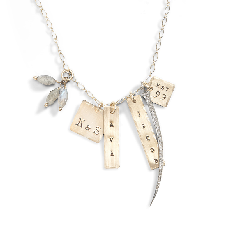 Imperial Palace Gold Name Charm Necklace