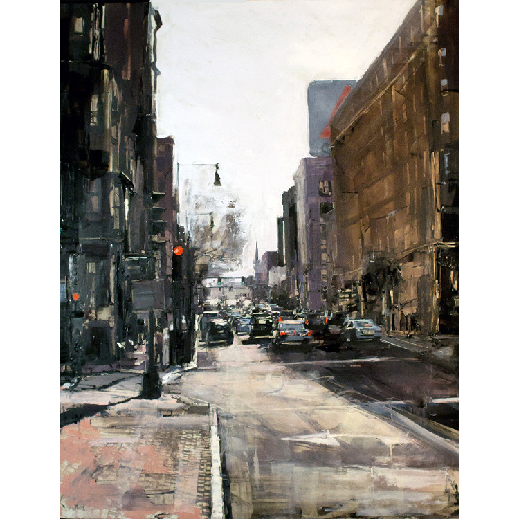 Sean Flood, American (b. 1982), Approaching Kenmore, 2013, Oil on panel, 26 x 28 in.