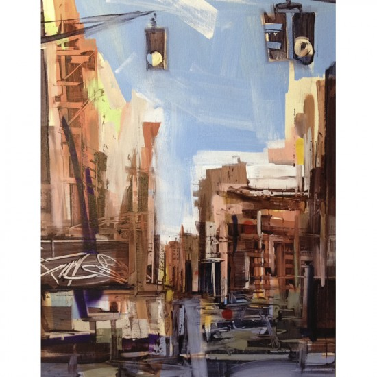 Sean Flood, American (b. 1982), Little Italy NYC, 2014, Oil on canvas, 28 x 22 in.