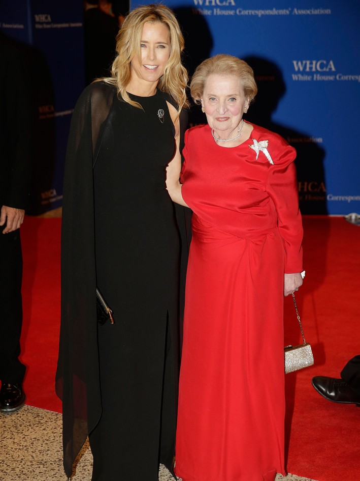 Téa Leoni and Madeleine Albright